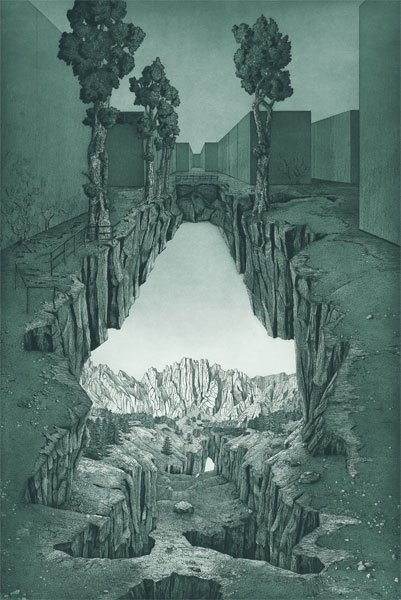 Restructuration, gravure de Jean-Pierre Humbert